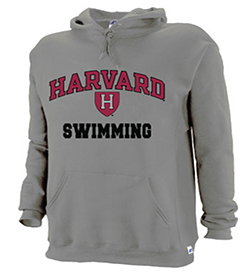 Harvard Grey Swimming Hooded Sweatshirt