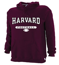Harvard Maroon Hooded Football Sweatshirt