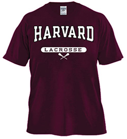 Harvard Maroon Lacrosse T Shirt