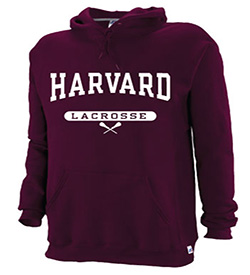 Harvard Maroon Hooded Lacrosse Sweatshirt