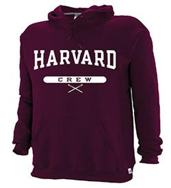Harvard Maroon Hooded Crew Sweatshirt