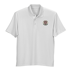 Harvard Veritas Wicking Micro Mesh White Polo