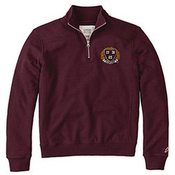 Harvard 1/4 Zip Women's Maroon Sweatshirt