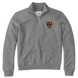 Harvard 1/4 Zip Grey Women's Sweatshirt