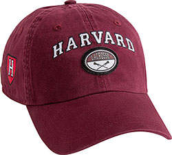 New! Harvard Maroon Lacrosse hat w/ Lacrosse & Athletic Shield
