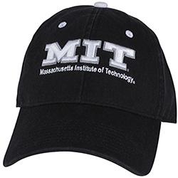 MIT Black Unstructured Hat