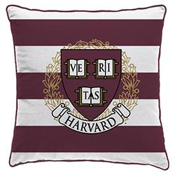 Harvard Veritas Square Pillow