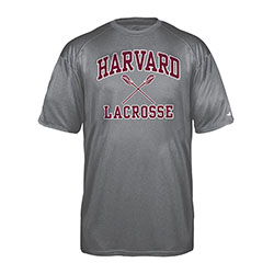Moisture-Management Harvard Lacrosse Pro Heather Carbon T Shirt