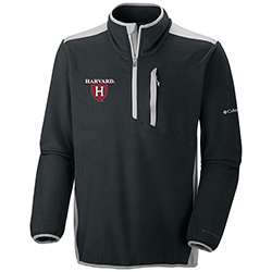 New! Columbia Harvard  1/4 Zip Crosslight Black Jacket