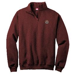 Harvard Veritas Maroon 1/4 Zip Cotton Sweater