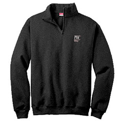 MIT Black Cotton 1/4 Zip Sweater