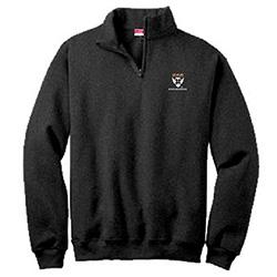 Harvard Business School Black 1/ 4 Zip Cotton Sweater