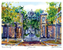 Johnston Gate in Watercolor