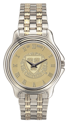 Harvard Men's Two-Tone Rolled Link Bracelet Wristwatch 37B-G