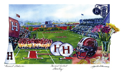 Harvard Game Day Watercolor
