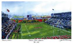 Harvard Oldest Stadium - Mark Waitkus Watercolor