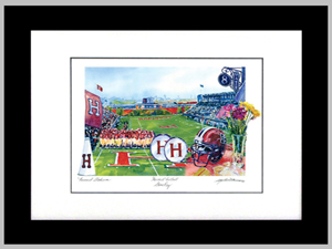 Game Day  Framed Watercolor Print