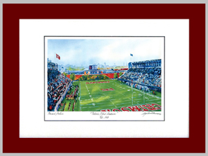 Game Day Two in Framed Watercolor Print