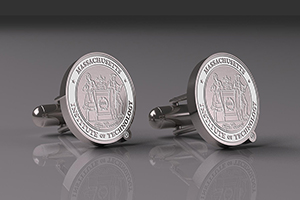 MIT Silver Custom Cufflinks (CUFW-WMIT1)