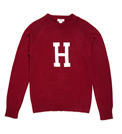 TheH  College Crew Neck Harvard Sweater