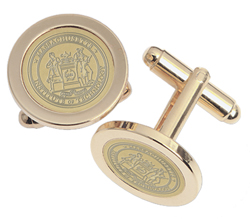23K Medallion Gold-Plated Brass MIT Cufflinks (#6G -G)