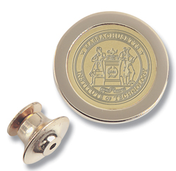 23K Gold-Plated Brass MIT Lapel Pin #1G-G