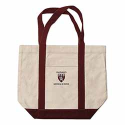 New! Harvard Medical School Extra Large Embroidered Boat Bag