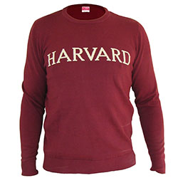 Harvard Maroon College 100% Cotton Sweater