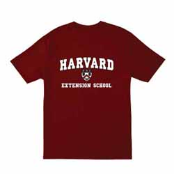 Harvard Maroon Extension School T Shirt