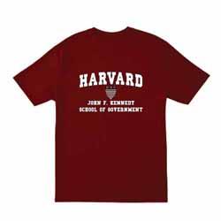 Harvard Maroon Kennedy School of Government T Shirt