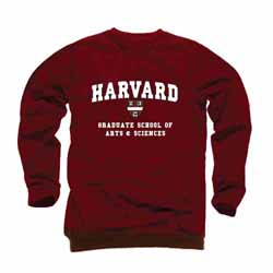 Harvard Maroon Graduate School of Arts & Sciences Crew Sweatshirt