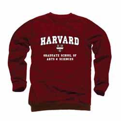 Harvard Maroon Graduate School of Arts & Sciences Crew Sweatshirt
