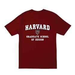 Harvard Maroon School of Design T Shirt