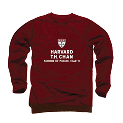 Harvard T.H. Chan School of Public Health Maroon Crew Sweatshirt