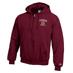New! Harvard Veritas Full Zip Maroon Hooded Sweatshirt