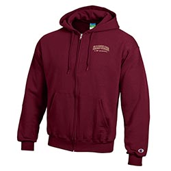 Harvard Law School Full Zip Maroon Sweatshirt