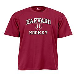 Moisture-Management Maroon Harvard Hockey T Shirt
