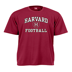 Moisture-Management Maroon Football T Shirt
