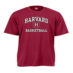 Moisture-Management Maroon Basketball  T Shirt
