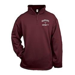 Harvard 1/4 Zip Poly Performance  Fleece Maroon Pullover