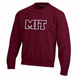 Versa Twill MIT Maroon Crew Sweatshirt