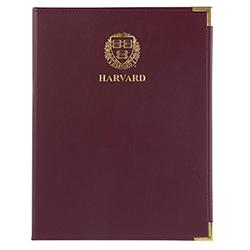 Classic Standard Harvard Veritas Maroon Pad Holder