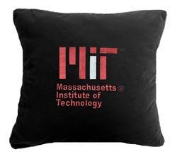 MIT Contemporary Black Suede Pillow