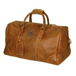 MIT Tan Leather Duffel Bag