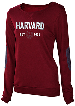 New! Harvard Glam Patch Maroon Crew Sweatshirt