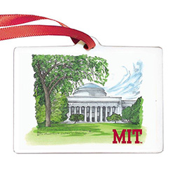 MIT Scene Porcelain Ornament