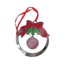MIT Silver Brass Christmas Ornament