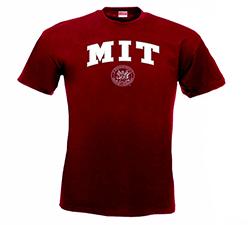 MIT w/ Seal Maroon Performance T Shirt