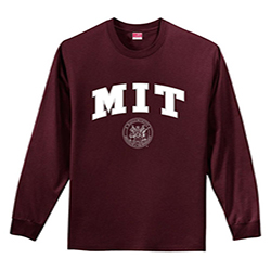 MIT Maroon Long Sleeve  Performance T Shirt