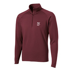 MIT Contemporary Maroon 1/4 Zip Performance